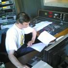 Enregistrement des chroniques chez Couleur 3, Lausanne.