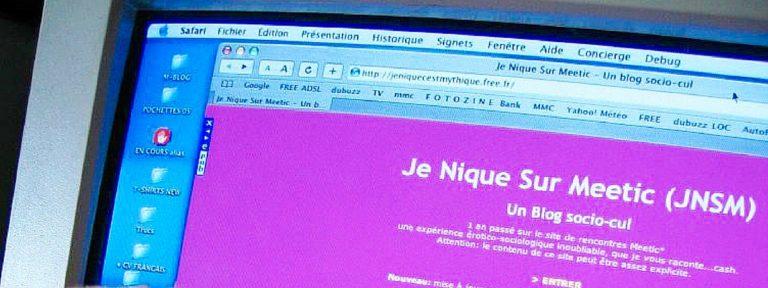 La genèse du blog JeNiqueSurMeetic (JNSM)