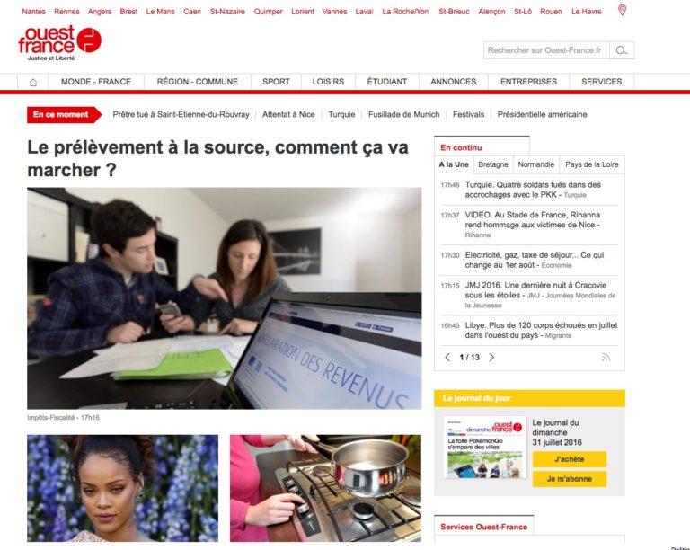 Ouest-France, site web (fév. 2005)