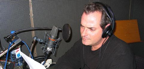Enregistrement des chroniques radio chez Couleur 3 à Lausanne
