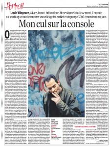 Portrait Libération 20 avril 2005
